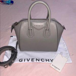 Authentic Givenchy Antigona Mini - Pearl Gray